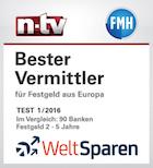 NTV Weltsparen bester Vermittler