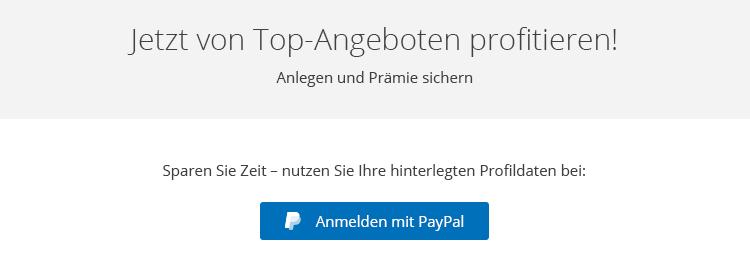 PayPal-Login macht Anmeldung bei WeltSparen noch einfacher.