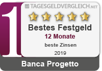 "Sieger in der Kategorie ""Bestes Festgeld 12 Monate""."