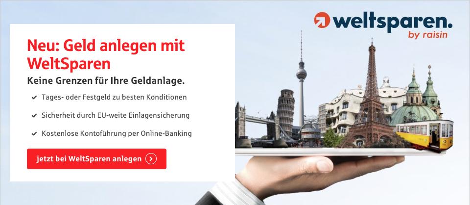Erste Sparkasse kooperiert mit WeltSparen, der Plattform für Geldanlage