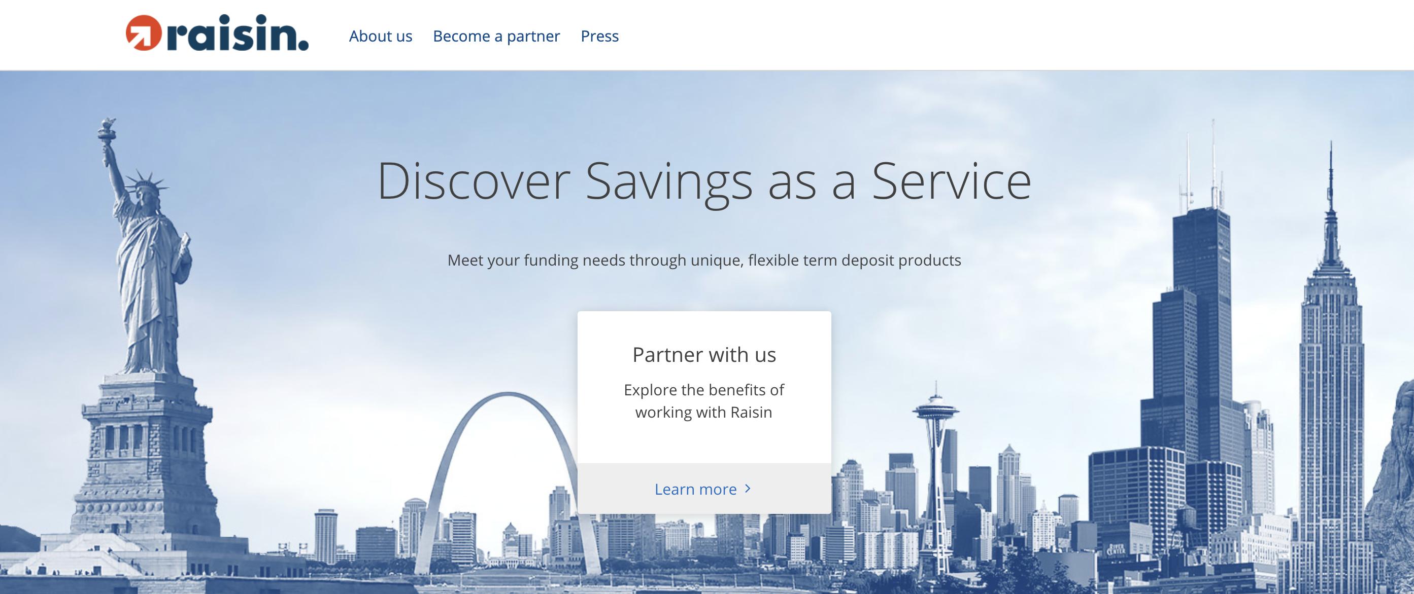 US-Launch:  Fintech Raisin startet in den USA mit Software für Banken