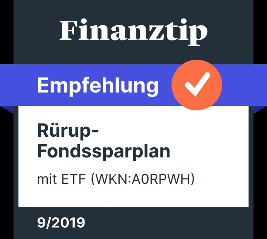ETF Rürup Finanztip Empfehlung